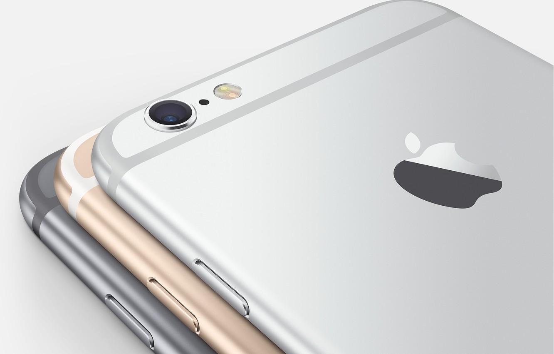 Фото обои Apple, Camera, Gold, Silver, Flash, Smartphone, iPhone 6, Space Grey, IOS