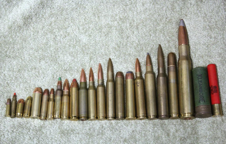 Фото обои оружие, патроны, калибр, сравнение, foto Brandon Pringle, .218 bee, 5.56(.223), 50 bmg API, Bullet comparison, …