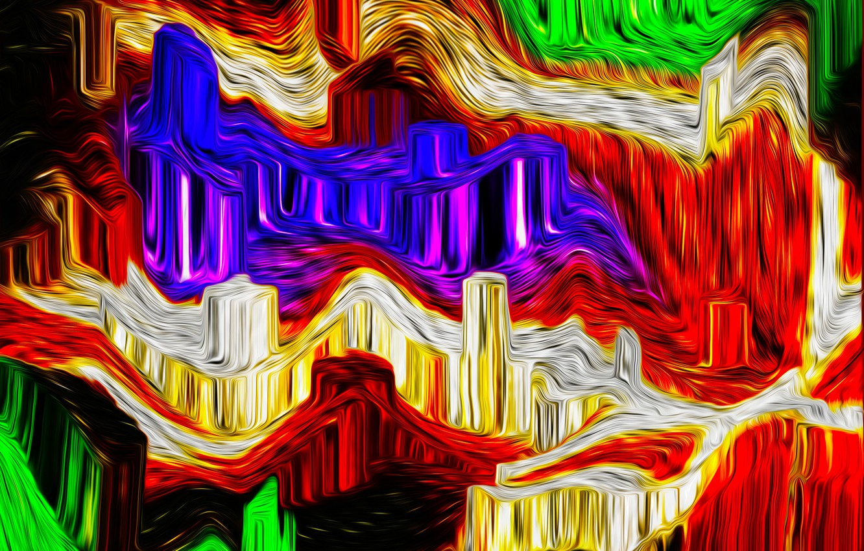 Фото обои узор, краски, цвет, объем