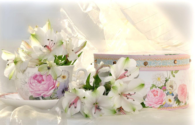 время, картинки на рабочий стол цветы в коробке яйца сахаром