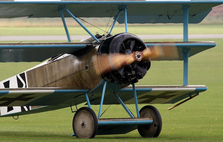 Обои сил, триплан, Fokker dr.1, военно-воздушных, истребитель. Авиация foto 9