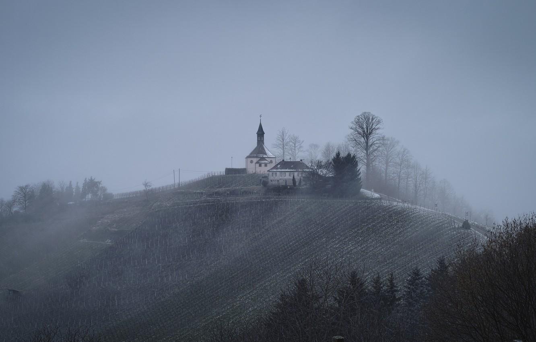 Фото обои зима, дом, Германия, холм, Баден-Вюртемберг, Roland C. Vogt photography, город Генгенбах