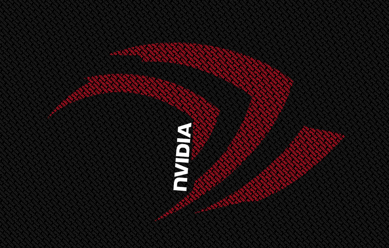 Фото обои red, white, Nvidia, black, letters