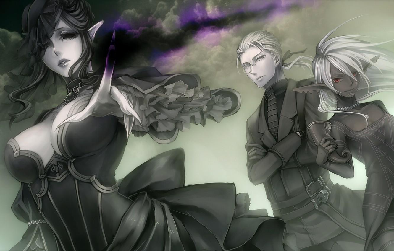 Фото обои облака, магия, Эльфы, вуаль, вдова