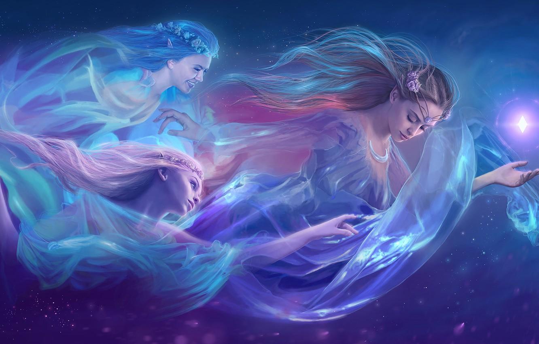 Фото обои девушки, арт, fantasy, фэнтази