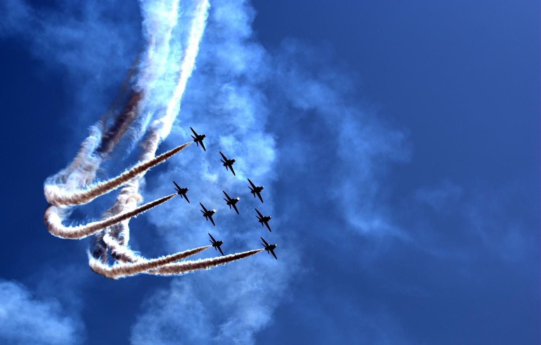 Фото обои праздник, шоу, парад, самолёты, Airily show, воздушное, parade