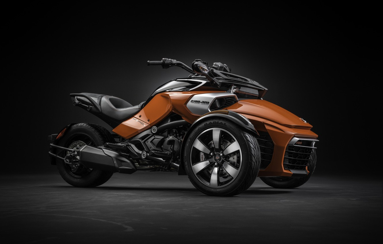 Фото обои Roadster, Canada, Spyder, modern, power, beautiful, motorcycle, Can-Am, strong, desing, tourism, comfortable, BRP, tricycle, robust, …