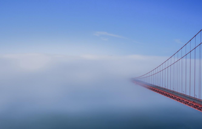 Фото обои fog, Golden Gate, bridge to nowhere