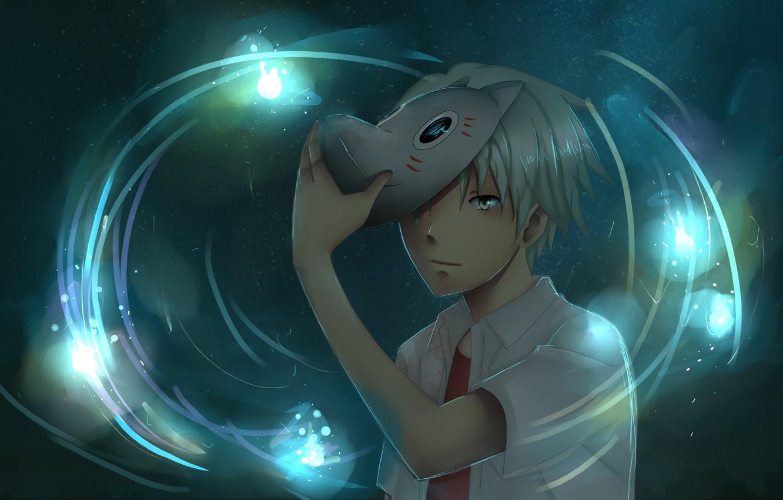 Фото обои anime, art, Hotarubi no Mori e, the Forest of Fireflies' Light, Gin