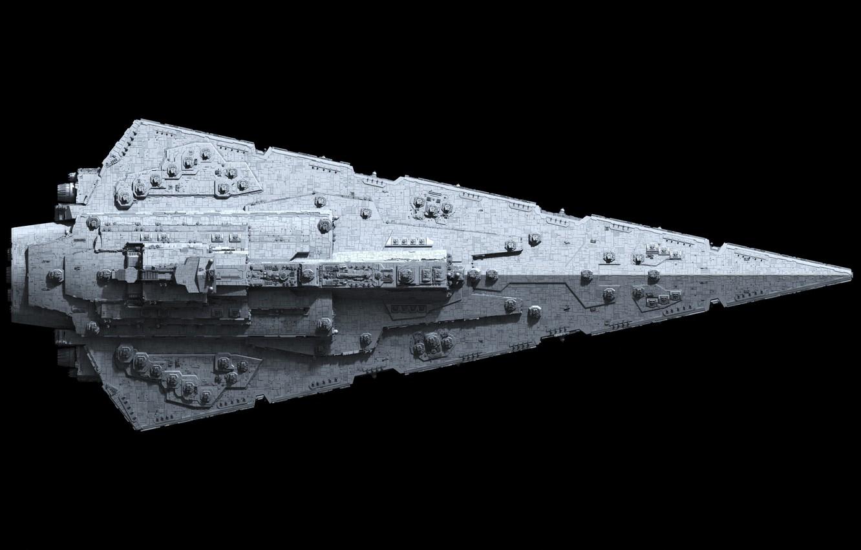Фото обои star wars, destroyer, top view