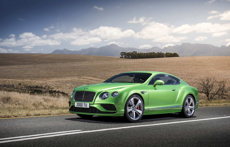 Фото обои фото, Bentley, Continental, Автомобиль, GT Speed, 2015, Салатовый, Металлик, Роскошный