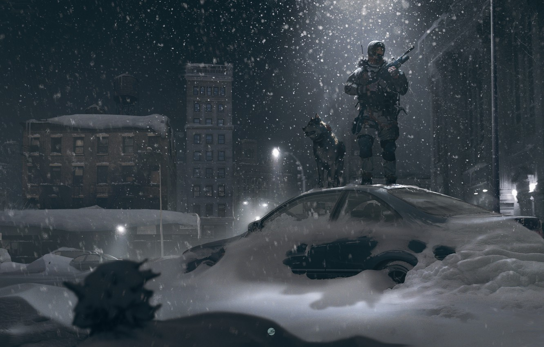 Обои зима, фонарь, Альпы, снег, ноч, Канацеи. Разное foto 9