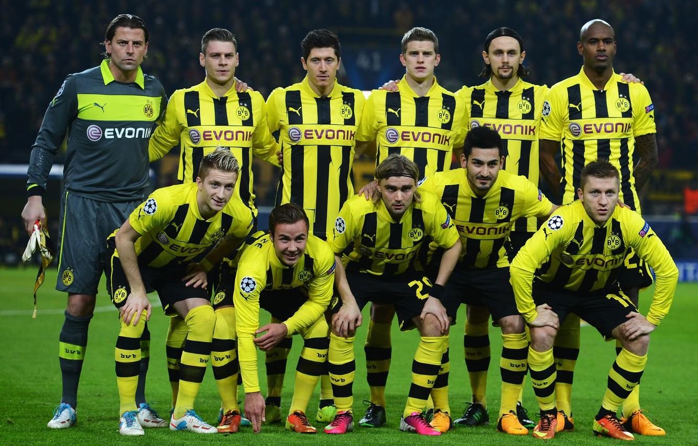 Фото обои Bender, Borussia, Dortmund, Mario Gotze, Robert Lewandowski, Marco Reus, Bundesliga, Ilkay Gundogan, Jacub Blaszczykowski, Weidenfeller, …