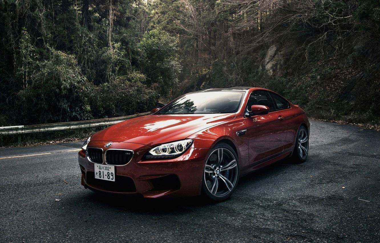 Фото обои Лес, Машина, Оранжевая, Orange, Coupe, Bmw, Купе, Бмв, Japan Spec