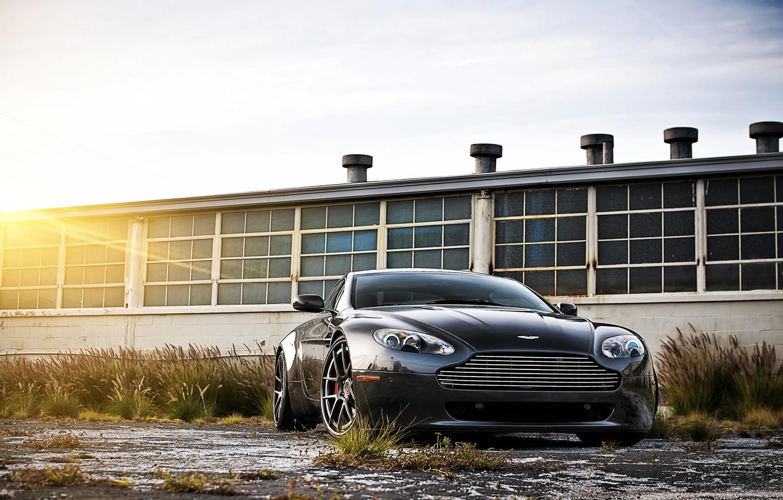 Фото обои black, aston martin, vantage, cars, auto, cars walls, обои авто