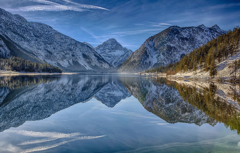 Обои австрия, alps, тироль, austria, tirol, Lake plansee, озеро планзее. Пейзажи foto 6