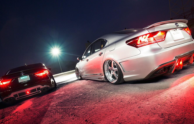 Фото обои Lexus, Japan, cars, stance, Lexus LS460