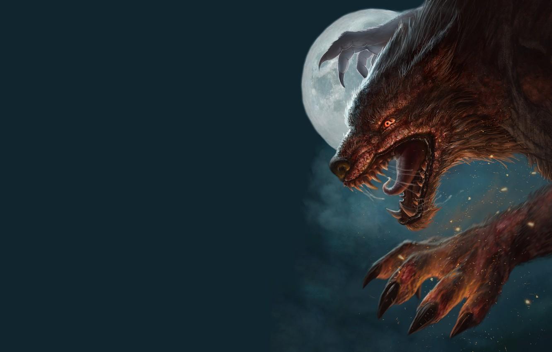 Обои рычит, Оборотень, werewolf, wolf. Разное foto 11