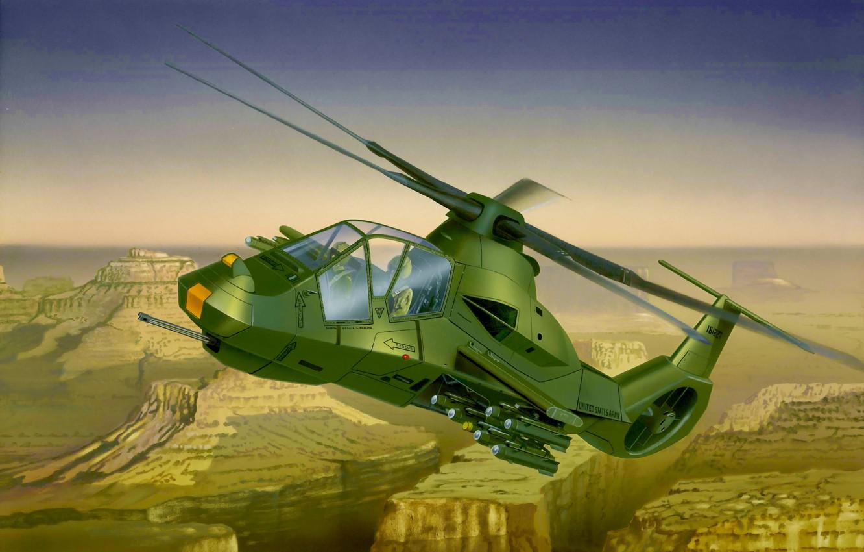 Фото обои war, art, airplane, helicopter, RAH-66 Comanche