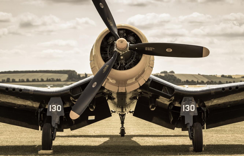 Обои истребитель, «корсар», Fg-1d, corsair. Авиация foto 11