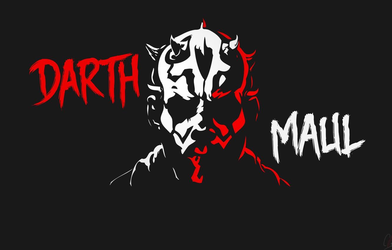 Фото обои Минимализм, Star Wars, Darth Maul, Звёздные войны, Ситх, Sith, Дарт Мол, Dark side, Raymond Park, …