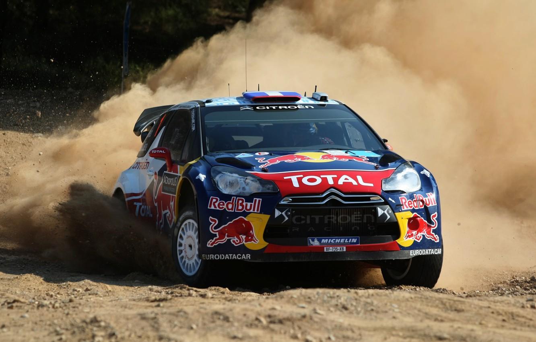 Фото обои Авто, Пыль, Колеса, Скорость, Гонка, Занос, Дрифт, Citroen, DS3, WRC, Rally