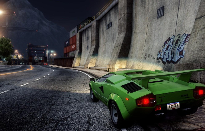 Обои классика, Need for speed most wanted 2012, Спорткар, lamborghini countach. Игры foto 6