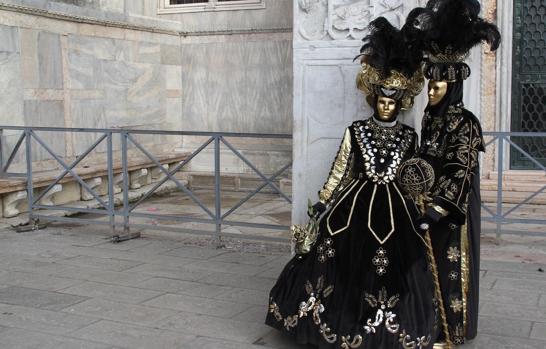 Фото обои карнавал, маски, венеция, костюмы, маскарад