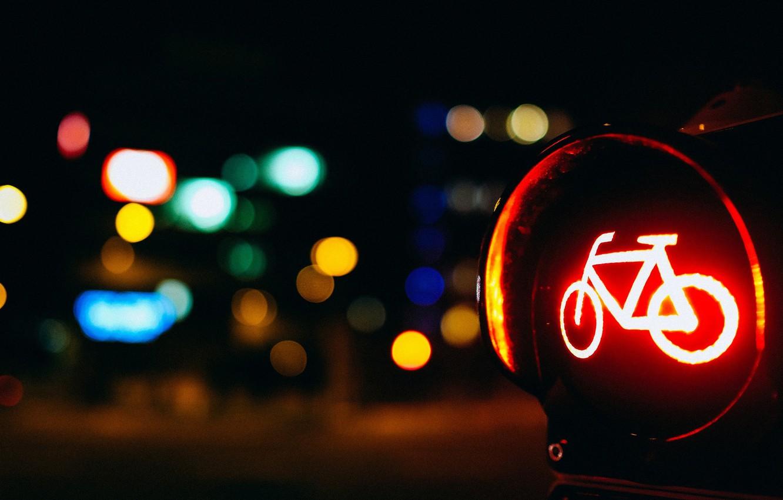 Обои разное, дорожный знак, размытие, Светофор, велосипед. Разное foto 9