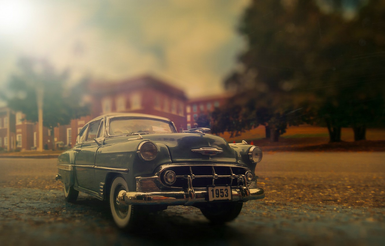 Фото обои ретро, Chevrolet, классика, Bel Air, Chevy, 1953 Chevrolet Bel Air