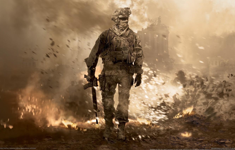 Фото обои война, солдат, modern warefare 2