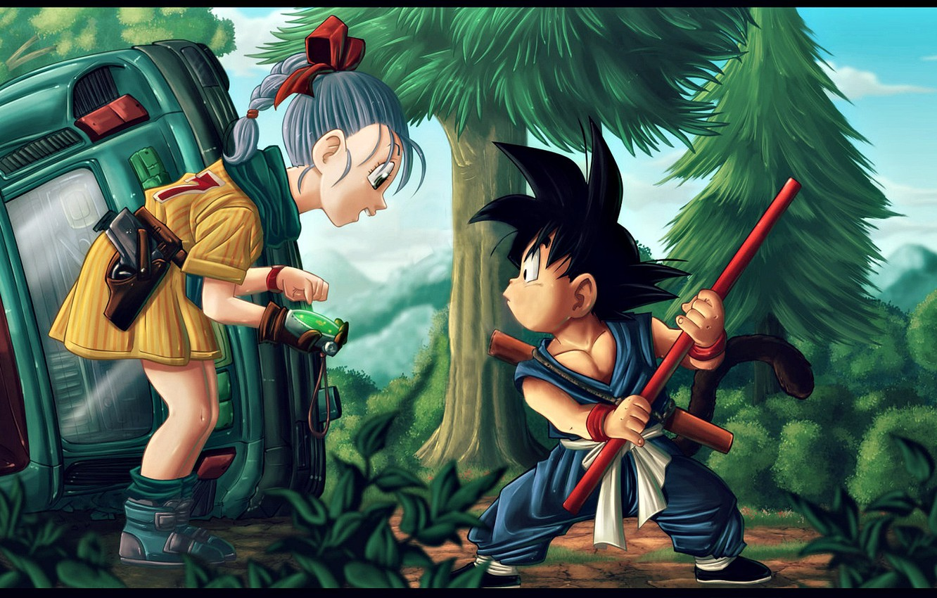 Фото обои Dragon, Anime, Wallpaper, Ball, Kid, Akira, Dragon Ball, Japanese, Goku, Piccolo, Manga, High, Gohan, San …