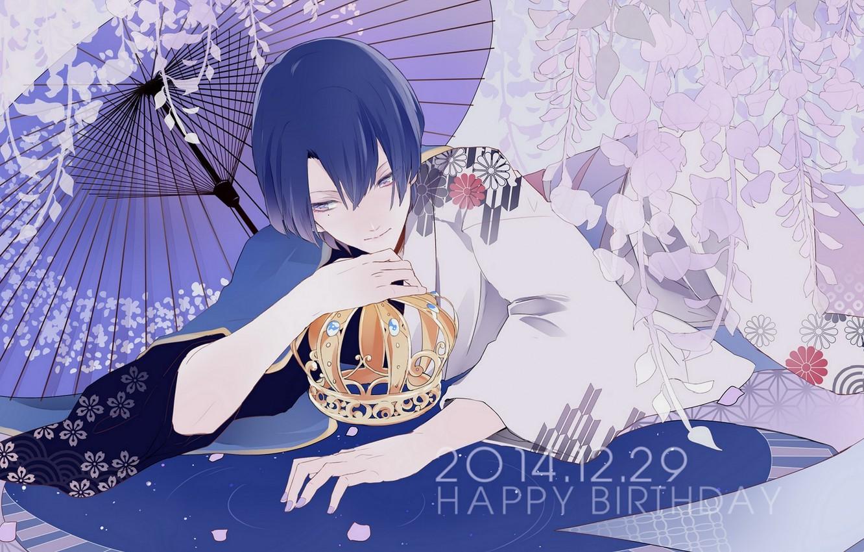 Фото обои зонт, аниме, арт, парень, Uta no Prince-sama