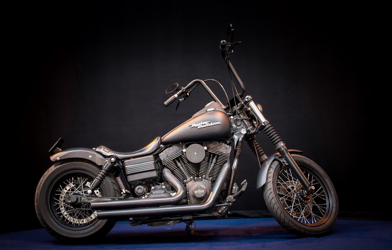 Фото обои Harley Davidson, motor bike, Mean machine
