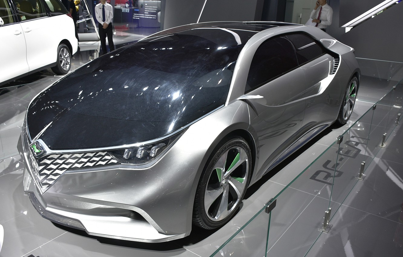 Фото обои концепт-кар, Toyota, автосалон, электромобиль, FAW-Toyota Ranz RF-EA1 Concept