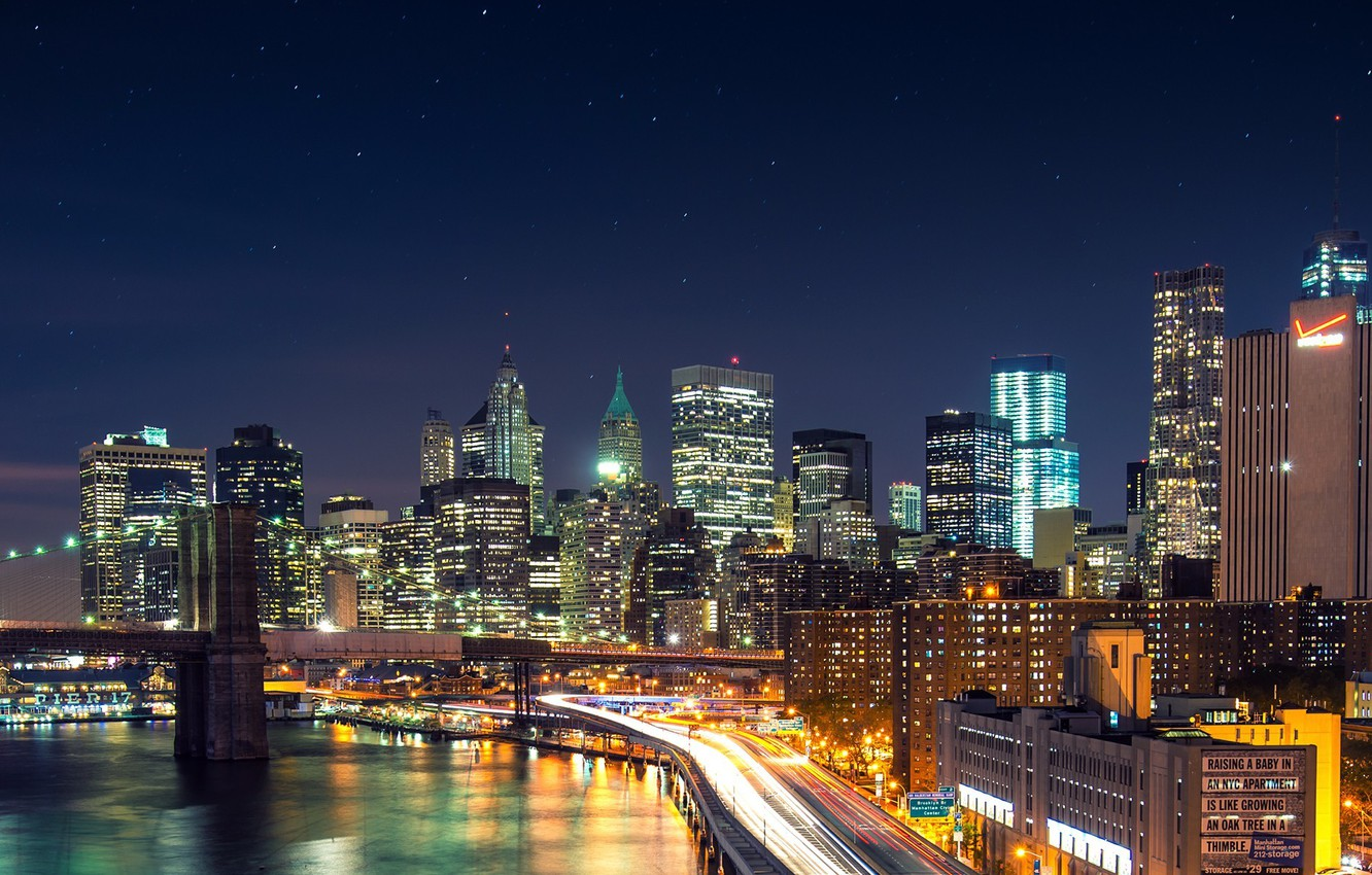Обои river, сша, new york, manhattan, Nyc, new york city. Города foto 18
