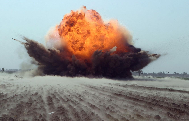 Фото обои взрыв, волна, ударная