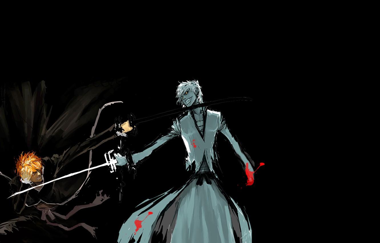 Фото обои борьба, аниме, тёмная сторона, блич, ичиго