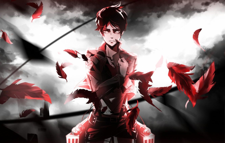 Фото обои anime, Shingeki no Kyojin, eren