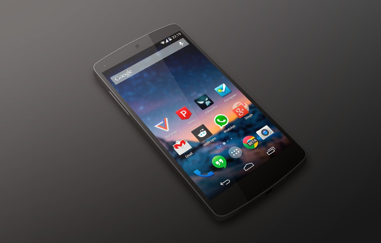 Фото обои Android, Google, Black, Smartphone, Nexus 5, Kit Kat, by LG