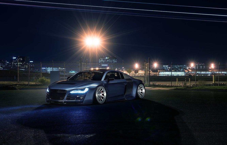 Фото обои Audi, Light, Design, Front, Sportcar, Airport, Prior