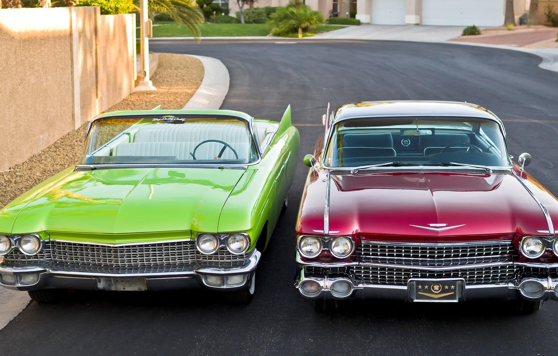 Фото обои ретро, Cadillac, 1960, классика, передок, 1959