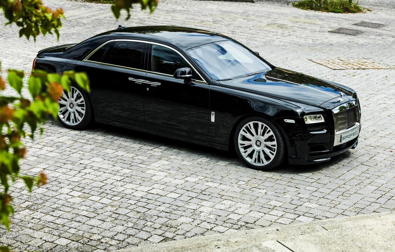 Фото обои car, Rolls Royce, Ghost, black