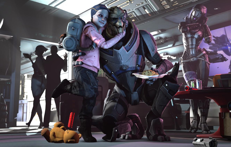 Фото обои shepard, Mass Effect, Garrus Vakarian, turian, asari, Quarian, Liara T'Soni, Tali'Zorah