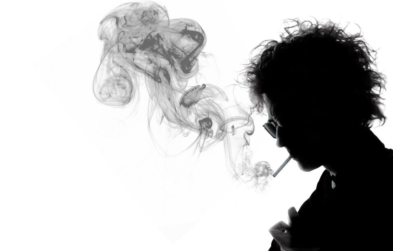Фото обои черно-белый, дым, сигарета, музыкант, великий, Боб Дилан, Bob Dylan, фолк