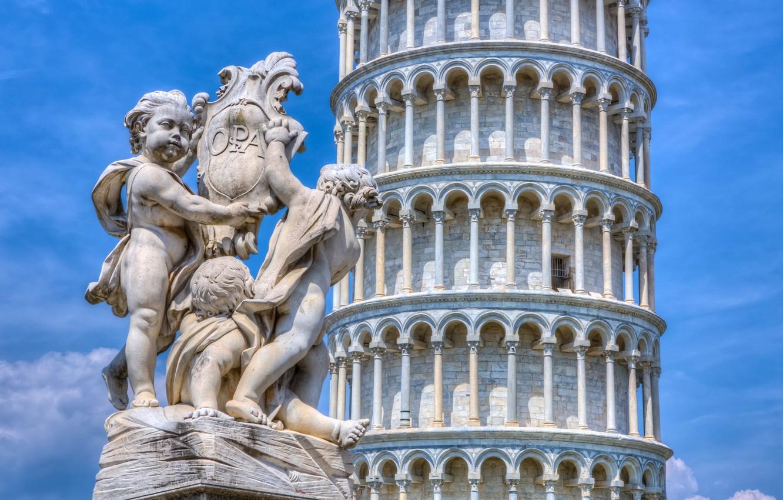 Обои italy, Leaning Tower of Pisa, скульптура, башня, пиза, пизанская башня, pisa. Города foto 6