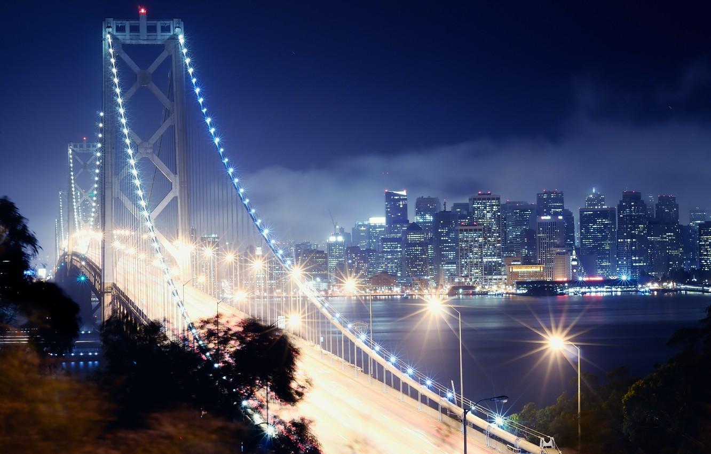 Обои калифорния, bay bridge, san francisco, california. Города foto 11