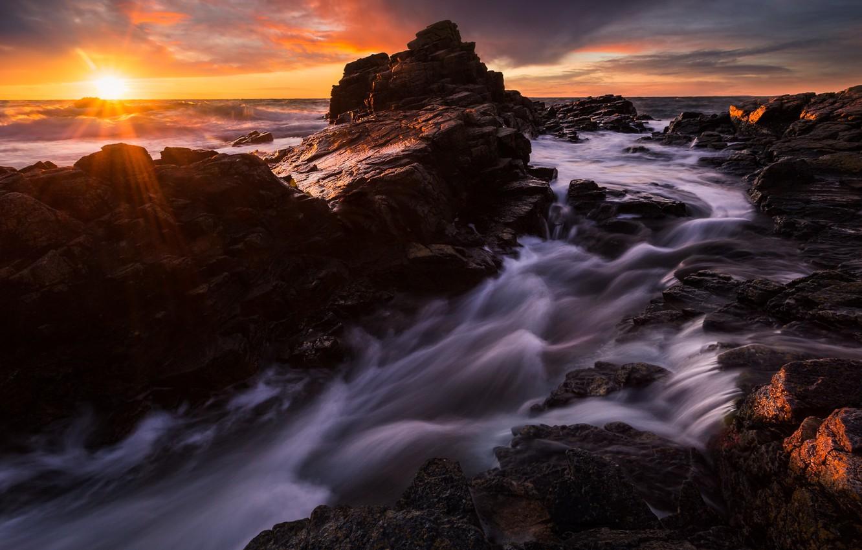 Обои потоки, скалы. Пейзажи foto 10