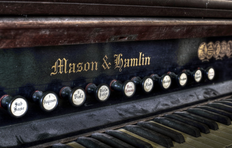 Фото обои макро, музыка, орган
