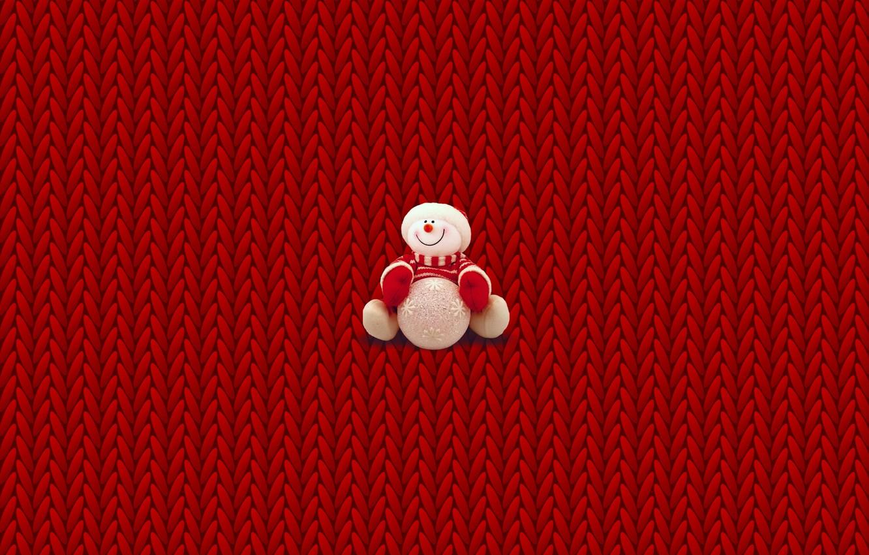 Фото обои зима, минимализм, Рождество, Новый год, снеговик, Christmas, свитер, New Year, вязка, крисмас